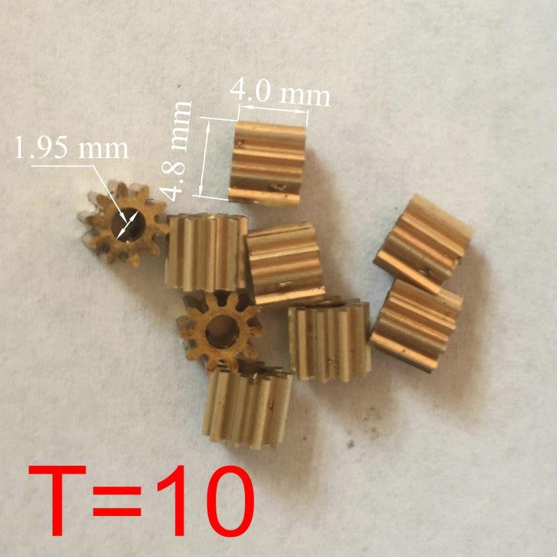 RC Model Copper Small Motor Gear Pinion 10 Teeth 5 mm (M=0.4 T=10 D=4.8 H=4 d=1.95)