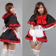 2017 nuevo traje de halloween cosplay anime capucha capa bruja navidad falda maid dress completo uniforme envío gratis