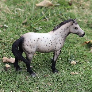 Image 3 - Oenux Original Genuine Farm Animals Horse Model Action Figures Wild Steed Figurines PVC High Quality Education Toy For Kids Gift