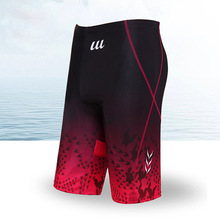 2017 Swimwear Men Shorts swimsuit Competitive Bathing suit Competition Trunk Waterproof Beach Tight Briefs Blue Red Plus Size