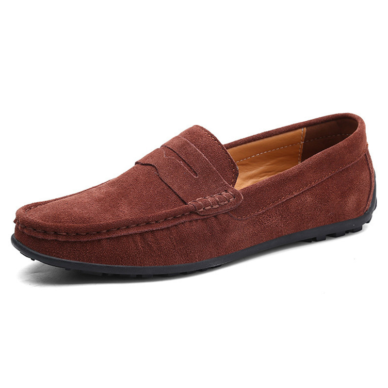 Men Casual Shoes Fashion Male Shoes   Suede     Leather   Men Loafers leisure Moccasins Slip On Men's driving Shoes Large Size 5-12.5