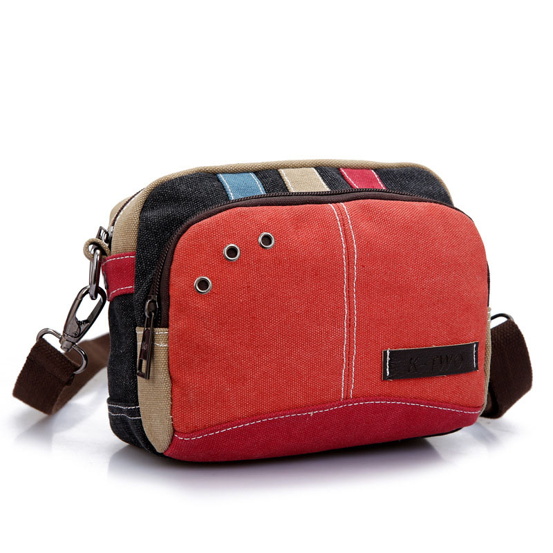 New Women's Crossbody Shoulder Messenger Bags Hot All-Match Casual Vintage Stitching Female Canvas Travel Bag new vintage men messenger bags casual multifunction small flap travel bags canvas shoulder crossbody black bags hot sale