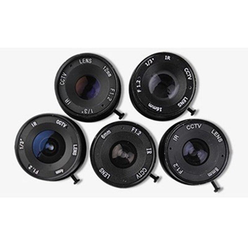 все цены на cctv lens f1.2  for cctv camera 12mm  iris lens manual zoom  CS interface monitoring  camera lens онлайн