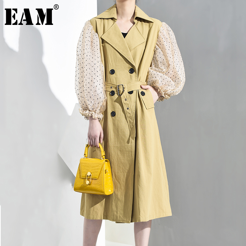 [EAM] High Elastic Waist Black Layers Ruffles Cake Trousers New Loose Fit Pants Women Fashion Tide Spring Autumn 2019 JO639