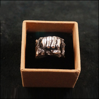 Топ ручной работы, Стерлинговое серебро 925, мощное кольцо в форме кулака, мужское кольцо для мальчика, уникальные ювелирные изделия, мужское