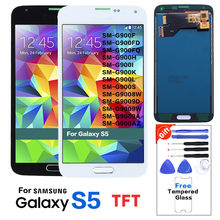 100% Tested S5 LCD For Samsung Galaxy S5 G900F G900M G900A LCD Display Touch Screen (G900H not fit)(China)