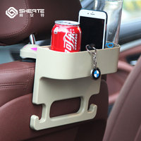 SHEATE Car Back Seat Organizer Anti Slip Hook Drink Cup Holder Auto Slit Storage Mount Phone