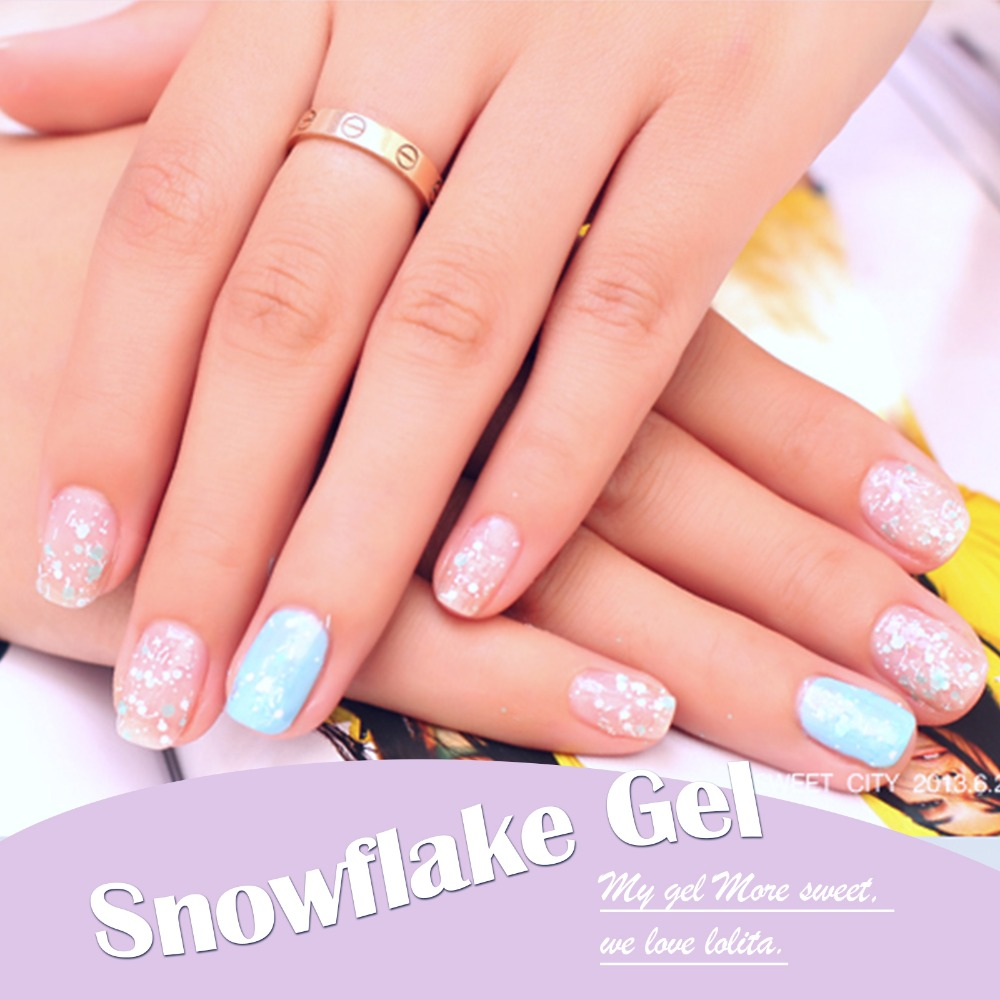 Candy Lover 3D Snowflake Gel nail polish 24 fashion color soak off ...