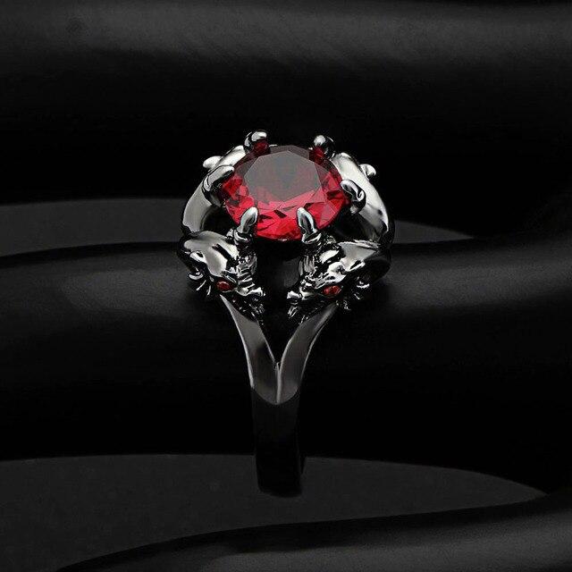 кольца hainon с черным пистолетом крутые мужские кольца драконом фотография