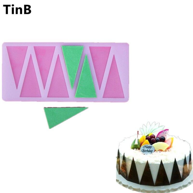 Herramientas de decoración de Pasteles de BRICOLAJE Triángulo Forma del Silicón