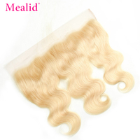 Mealid 613 Color Brazilian Body Wave 13x4 Lace Frontal Non remy 8 18 Human Hair Free Part Frontal Closure