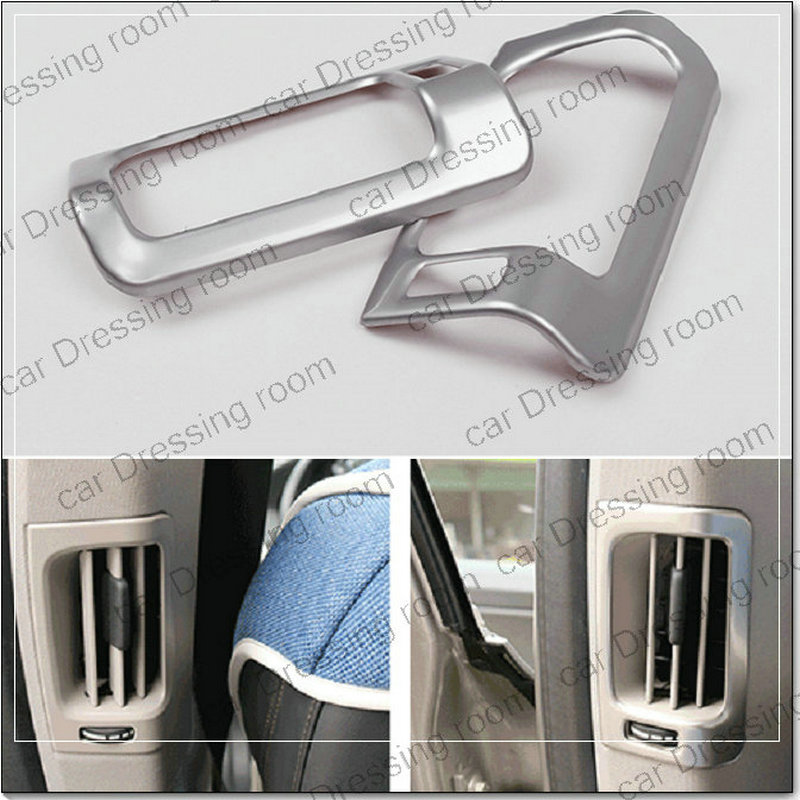 Car styling rear air conditioning vent panel decorative cover trim car accessories air outlet strip for Volvo XC60  2pice/lot