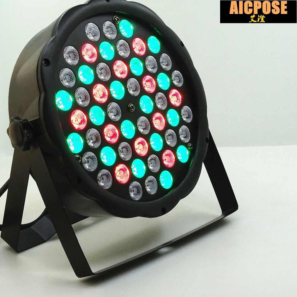 Светодиодный par огни 54x3 W DJ прожектор светодиодный 54*3 Вт огни R12, G18, B18, W6 мыть светомузыка, DMX контроллер эффект для маленьких, платье для вечеринки, KTV