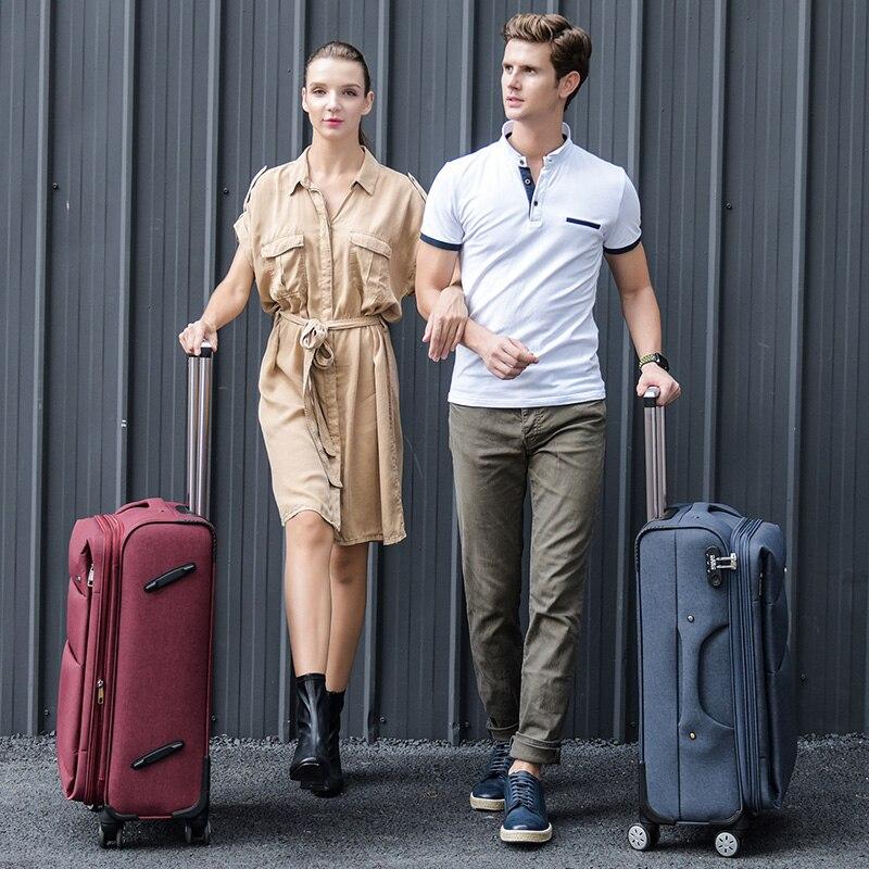 Cool fluid oxford fabric box luggage female universal wheels trolley luggage bag travel bag male luggage,new 20 22 24 26 28bags