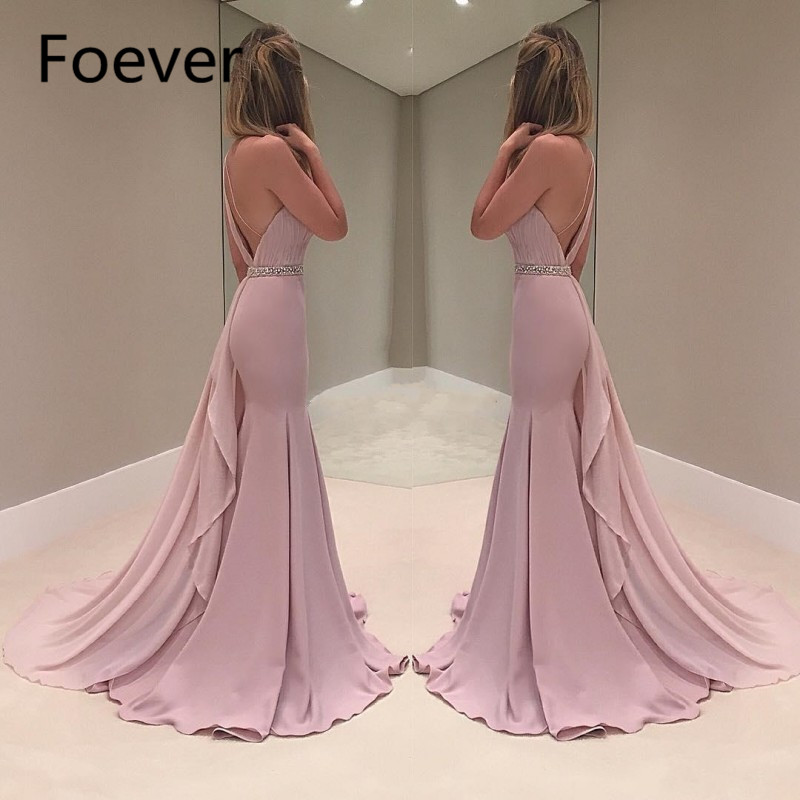 Sexy One Shoulder   Evening     Dresses   Mermaid 2019 abiye gece elbisesi Open Back Special Occasion Formal   Dress   Party abendkleider