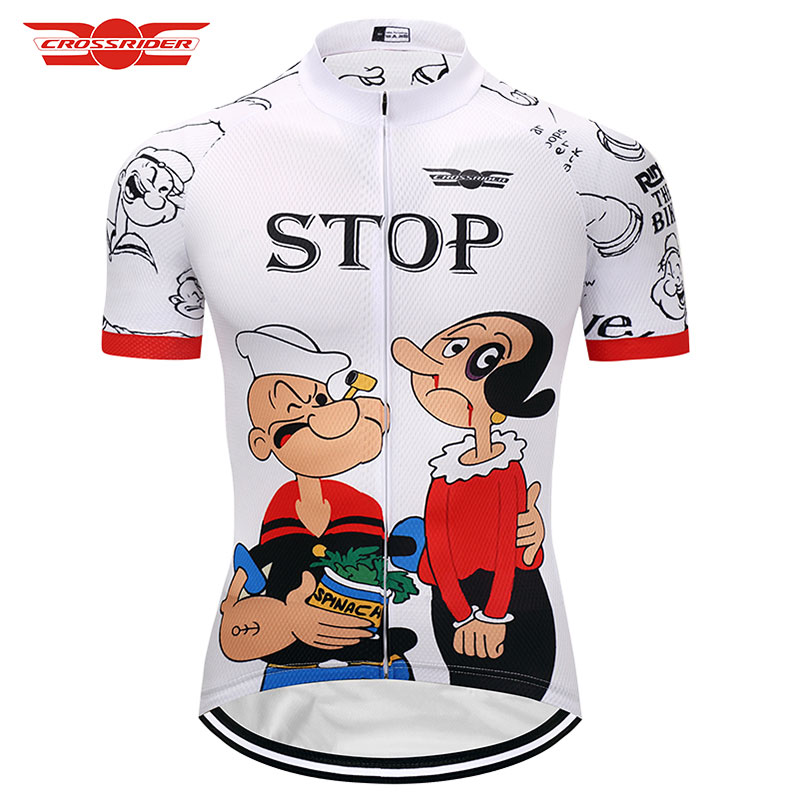 2018 Cartoon Men Cycling Jersey Summer MTB Bicycle Clothing Bike wear Clothes Short Mail ...