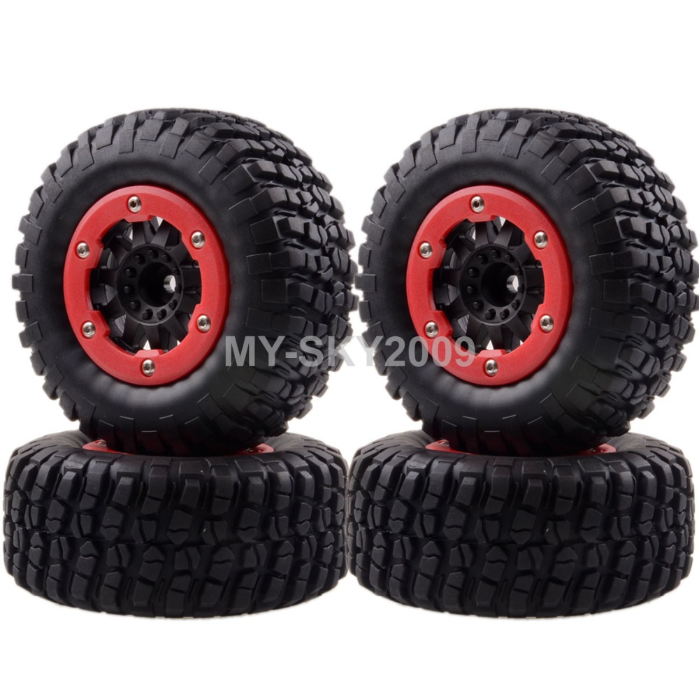 4pcs  Wheel Rims & Tyres, Tires For 1/10 Traxxas Off-road Truck 1182-14 Slash 4x4 Pro-Line Racing 2pcs traxxas original 1 5 x maxx tires wheels tire tyre for 1 5 traxxas x maxx rc monster truck model 7772