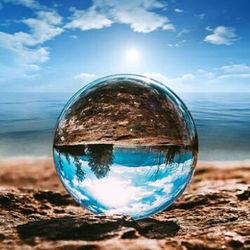 Klar Glas Kristall Ball Ornament Healing Kugel Fotografie Requisiten Lensball Wohnkultur Geschenk 50mm FengShui Globus