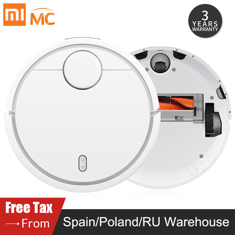 Original Xiaomi Mi Robot Vacuum Cleaner for Home Carpet Automatic Sweeping Dust Sterilize Smart Planned WIFI Mijia APP Control-in Vacuum Cleaners from Home Appliances