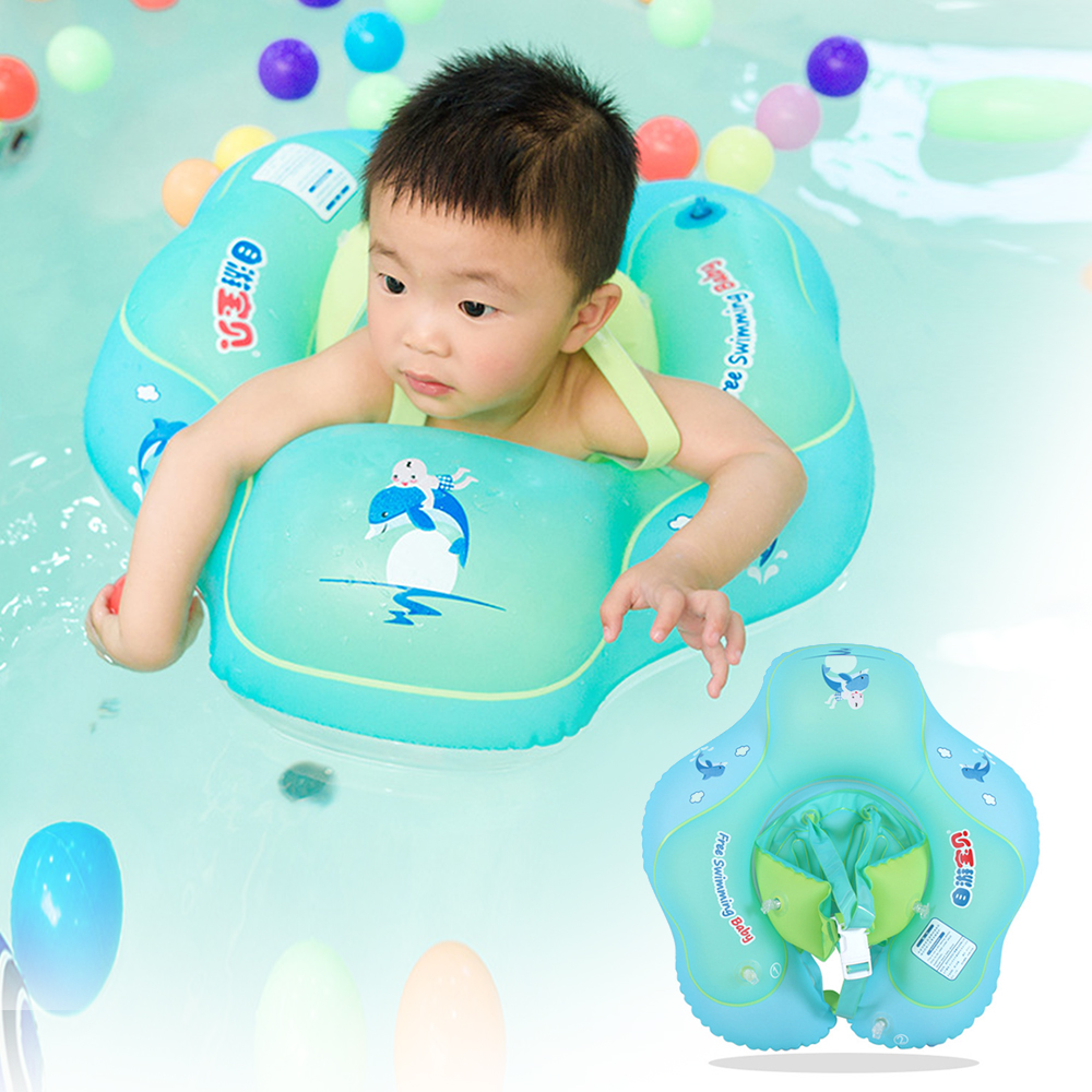Baby PVC Inflatable Armpit Toddler Floating Ring Cute Animal Children Swimming Bathing Ring Kids Swimming Training Accessories