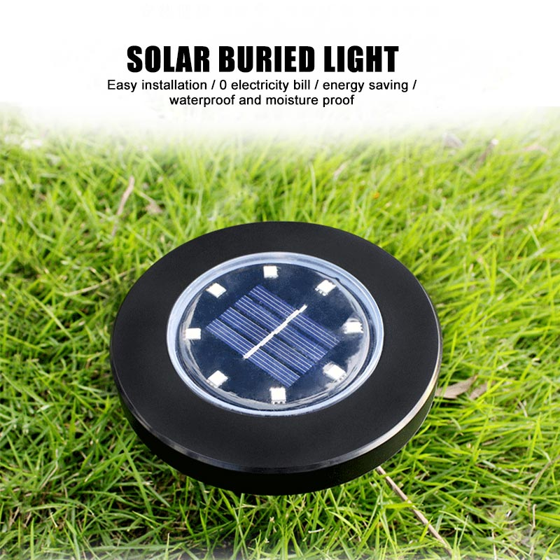 8LED Solar Power Buried Light Decking ABS Solar Light For Home Garden Lawn Under Ground Lamp Outdoor Path Garden Waterproof in Solar Lamps from Lights Lighting