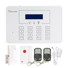 LCD Display GSM Alarm System with Touch Panel Keypad Safe Home 433MHz wireless PIR Motion Sensor Door contact alarm Smoke