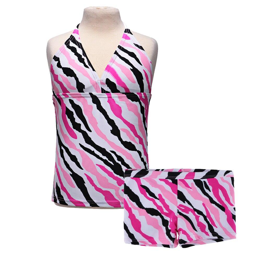 2018 2szt dziewcząt 6 kolorów strój kąpielowy bikini strój - Kostiumy - Zdjęcie 5