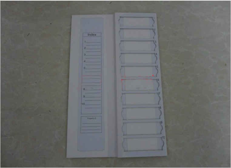 La boîte de Consultation de plaque de séchage de panneau dopération de stockage de support de courrier de glissière de haute qualité peut contenir 10 glissières de pièces