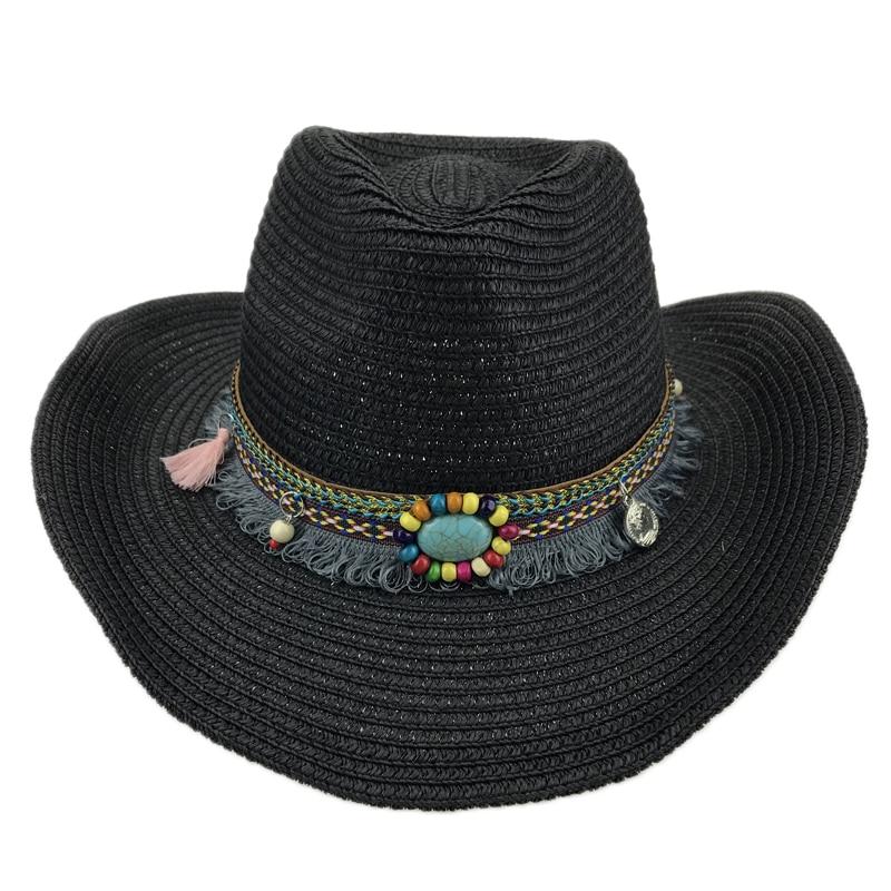 Chapéu de palha Ocidental Cowboy Homens Feitas À Mão Praia Feltro Sunhats  Verão Cap Para O Homem Mulher Unisex Chapéu de Cowboy Ocidental Chapéus de  festa ... e7fb384db6a