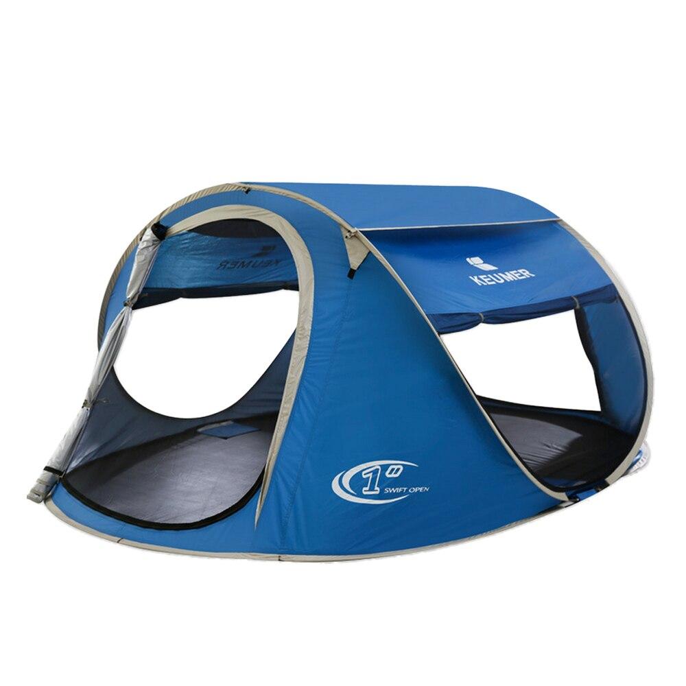 Keumer Pop Up Кемпинг Пеший Туризм пляж палатка Автоматическая настройка легко складной пляжный приют с защитой от УФ покрытие для 3-4 человек с мешком