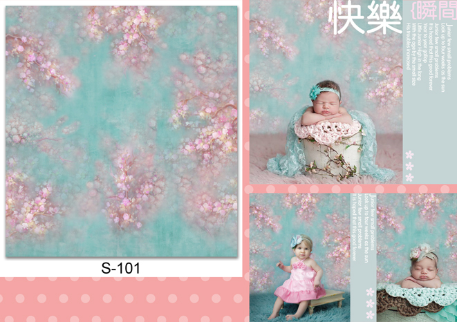 Custom vinyl cloth oil painted style newborn floral photography backgrounds for dolls photo studio backdrops photographic S-101 custom vinyl cloth broken wall photo