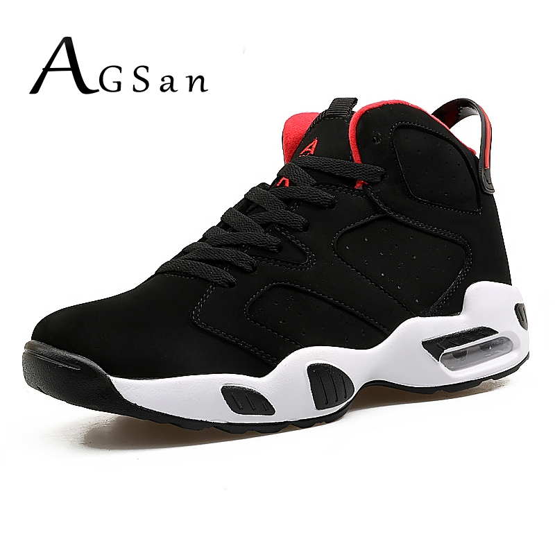 AGSan 2018 Spring New Men Sneakers Cow Suede Mens Casual Shoes High Top Trainers Lovers Couple Shoes Black White Comfort Flats 2017brand sport mesh men running shoes athletic sneakers air breath increased within zapatillas deportivas trainers couple shoes