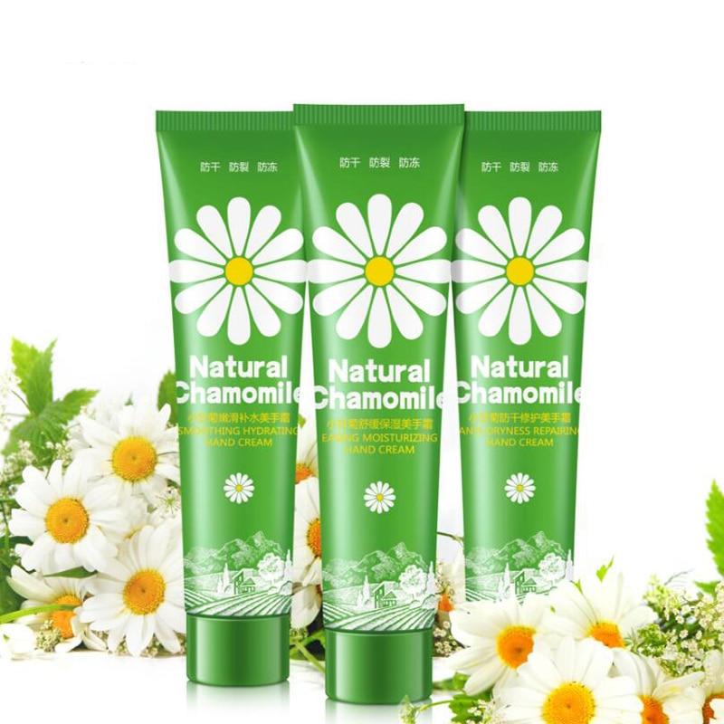 HANKEY Chamomile Hand Cream Moisturizing Anti-chapping Whitening Exfoliating Rretrieve Fine Lines Wrinkle Hand Care 75ml