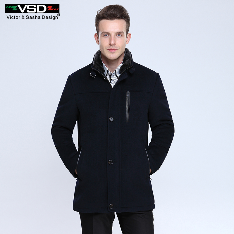 Wool Blends Suit Design Woolen Men's Casual Trench Overcoat Design Slim FitSingle Breasted Office Suit Jackets Coat for Men