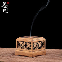 Teak openwork incense coil furnace wooden incense burners aromatherapy incense holder incense tray