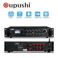 Oupushi Home Bluetooth 120W , 240W , 360W AC/DC Microphone 5 Zone PA Mono Amplifier with 70 100 Volt Output With USB