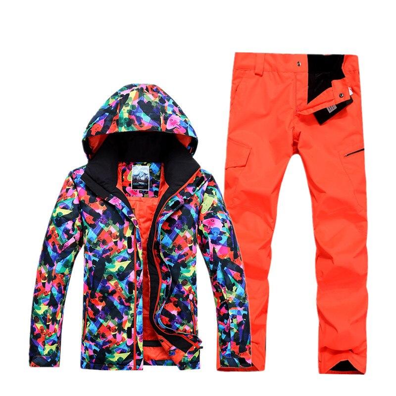 Gsou snow costumes pour hommes, costumes de ski motif de planche à roulettes