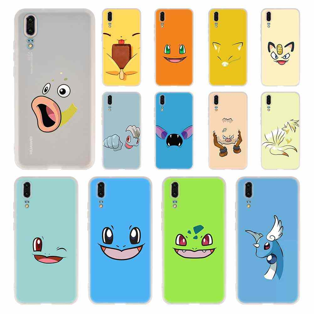MLLSE Cute pokemon Case Silicone Soft TPU Cover For Huawei P30 P20 Pro P10 P9 P8 Plus Lite 2019 Cases
