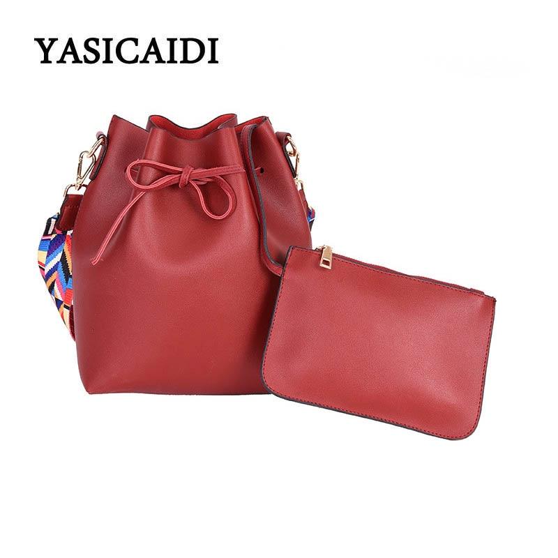 Women Shoulder Bag Bucket Purse Famous Brands Crossbody Bag Colorful Shoulder Straps Female Designer Ladies Bolsos Mujer
