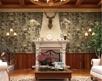 Beibehang 3D Chinese Three Dimensional Waterproof Antique Culture Rock Wall Paper Restaurant Cafe Background 3d Wallpaper