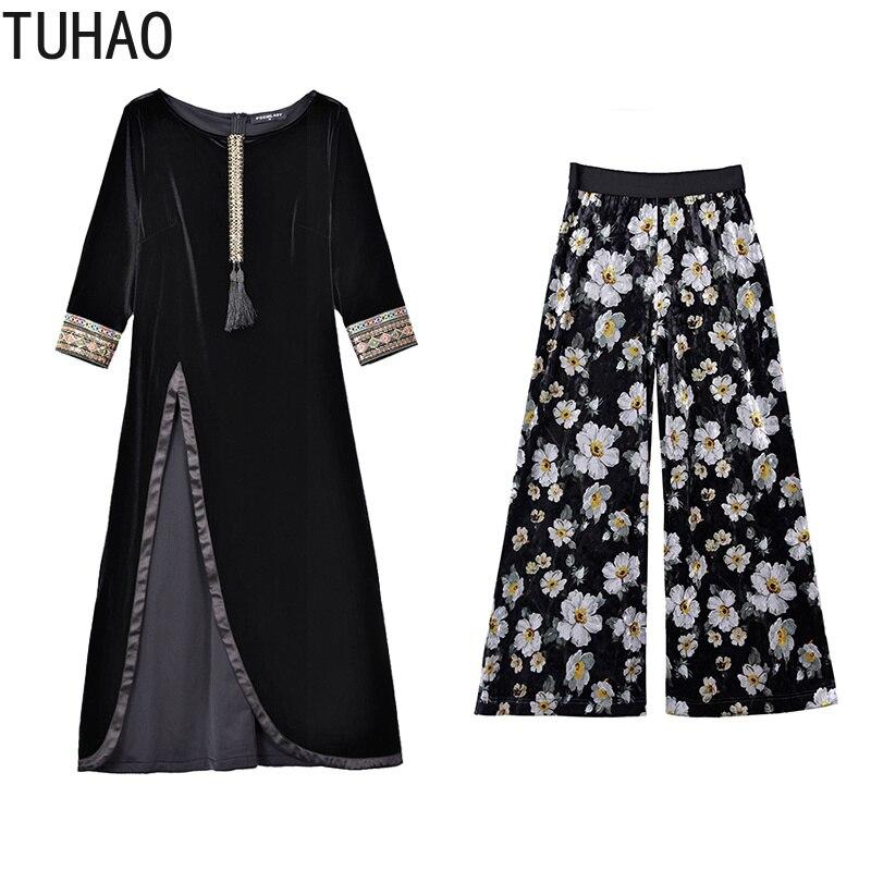 TUHAO office lady women suit dresses 2018 autumn winter elegant fashion  plus size dress 3XL 2XL party women dress two piece OLZ