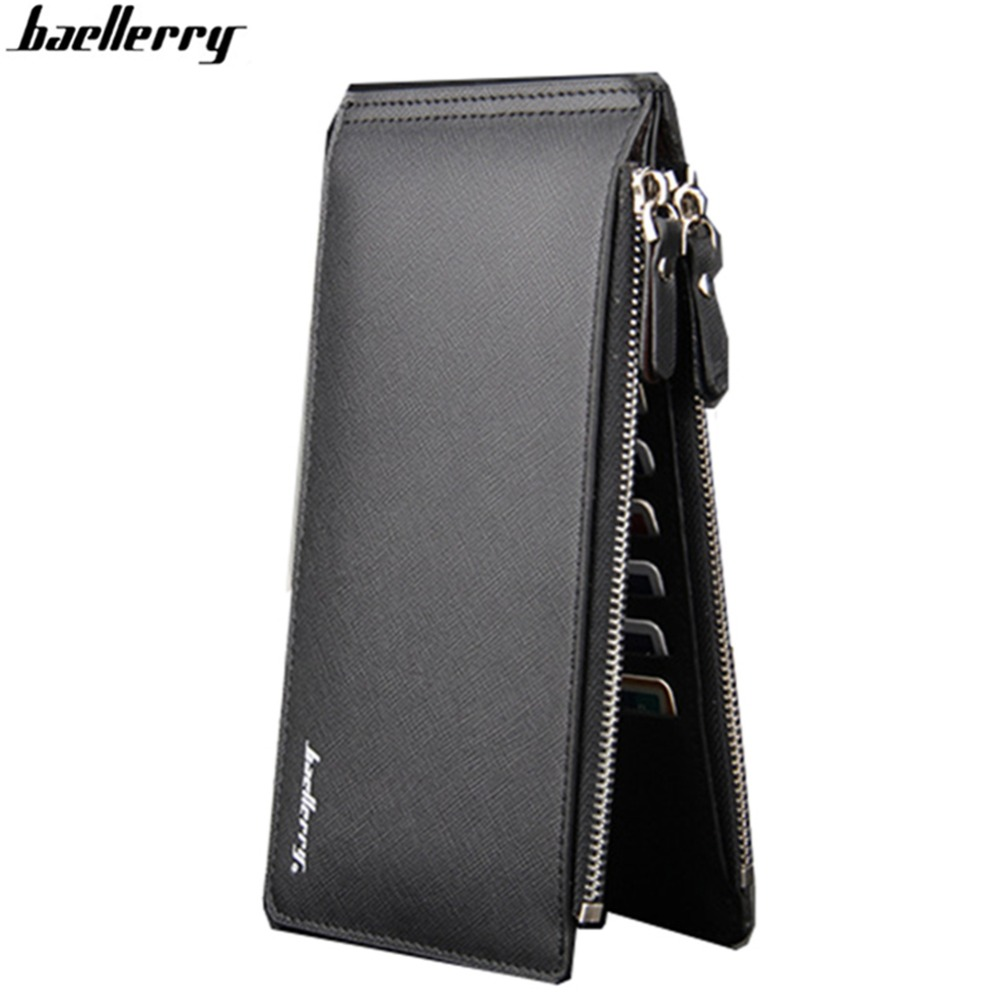 Baellerry Business Men Wallets Long Zipper Men Purses Card Holder Male Leather Purse Overwatchcarteira masculina-- BID062 PM49 free shipping 1pcs lot 6mbi20gs 060 module igbt best quality