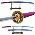 Brandon Schwerter Hand Geschmiedet Japanischen Schwert 1060 Carbon Stahl Galvani Blau Sharp Praxis Schwert Schlacht Bereit Samurai Katana