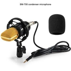 Image 2 - GEVO BM 700 micrófono de condensador Profesional Wired 3.5mm micrófono ordenador BM700 NB 35 soporte para micrófono filtro Pop para kareoke PC portátil regalo tarjeta de sonido USB