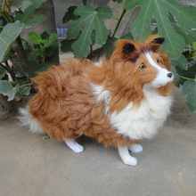 lovely simulation shepherd dog toy cute standing curly shepherd dog doll gift about 37x11x23cm