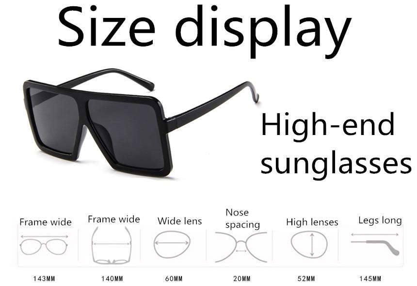 ASUOP2018 large frame new retro ladies sunglasses black radiation fashion men's glasses UV400 international luxury brand square goggles (1)