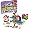 Bela 10160 amigos heartlake city pool ladrillos de construcción, bloques de juguete casa de juegos de regalo de la muchacha compatible con lepin decool 41008