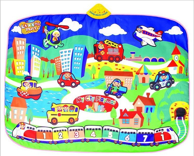Baby Playmats Gyms  Music Cartoon Baby Crawling Plat Mat Game Mats Pad Blanket Multifunctional Climbing Pad