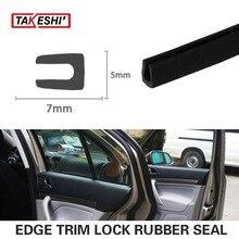 Car Van Boat Bonnet 7x5mm U pillar Black Trim Rubber Edge Seal Strip Protector exterior interior Weatherstrip 472″ 1200cm #53