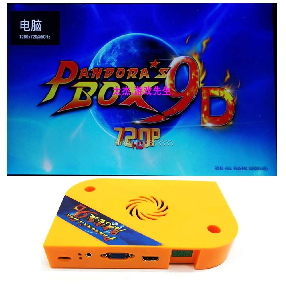 Pandoras 9D 2222 IN 1 Arcade Game Board Arcade Joystick DIY Motherboard English Korean Japanese can